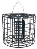 Pole mountable caged suet basket