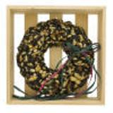 Christmas Nut Wreath in wooden crate