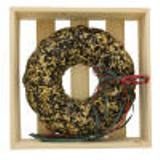 Festive Seed Wreath in wooden crate